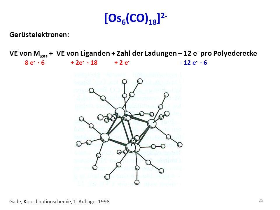 [Os6(CO)18]2- Gerüstelektronen: